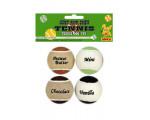 BALLE TENNIS GOUT CHOCO/VANIL /4