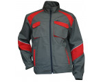 BLOUSON BICOLORE ANTHRA/ROUGE